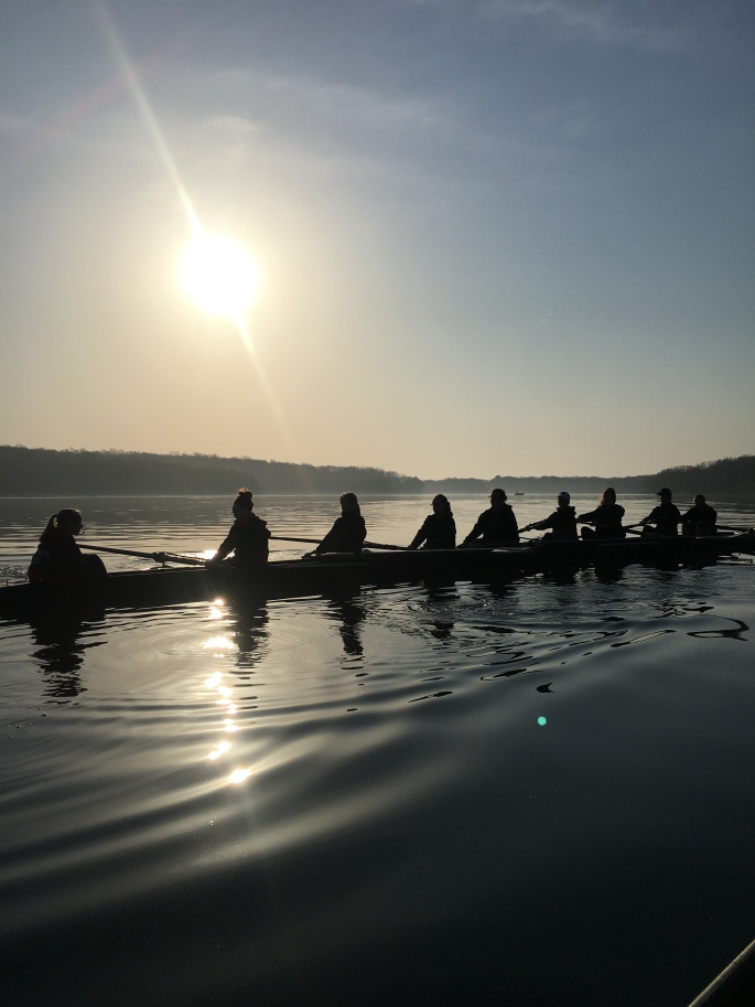 Early morning crew practice